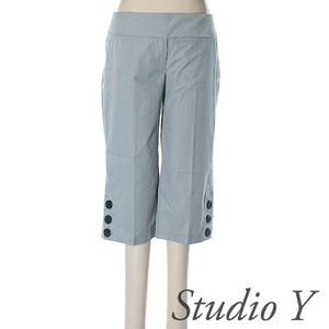 NWOT •Studio Y •Cropped Pants •Pinstripe •Size 6